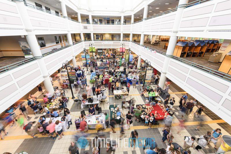 Johnson Student Center during the 2019 Maker Faire at GMU ©TimeLine Media