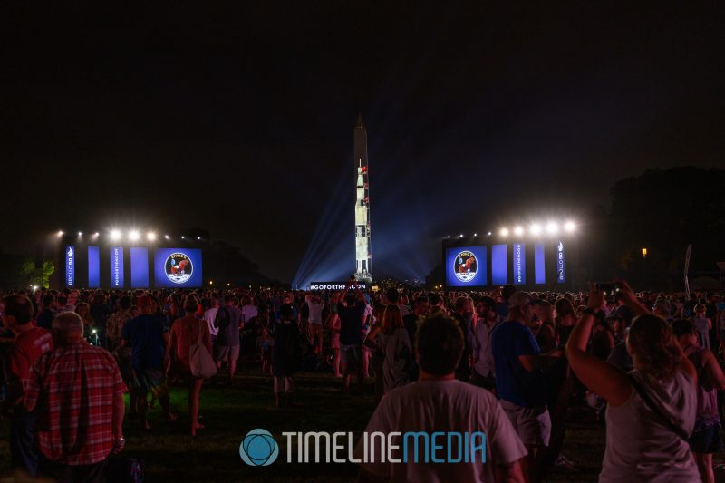 "Crowd watching the ""Go For the Moon"" show at the Apollo 50 festival in Washington, DC ©TimeLine Media"