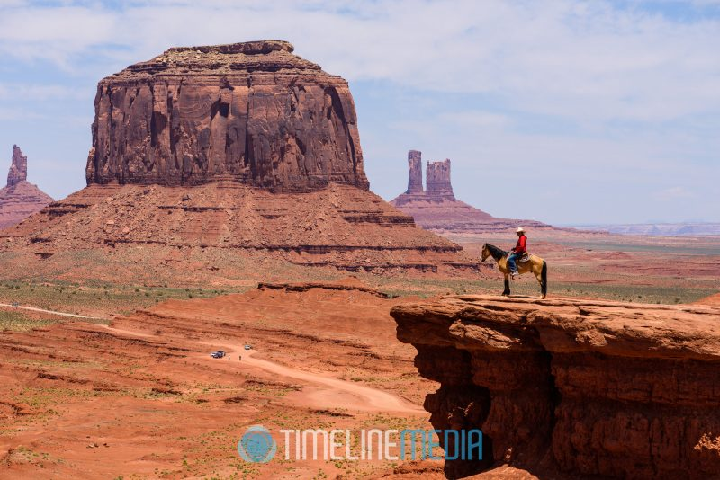 John Ford point in Monument Valley with a rider on a horse ©TimeLine Media