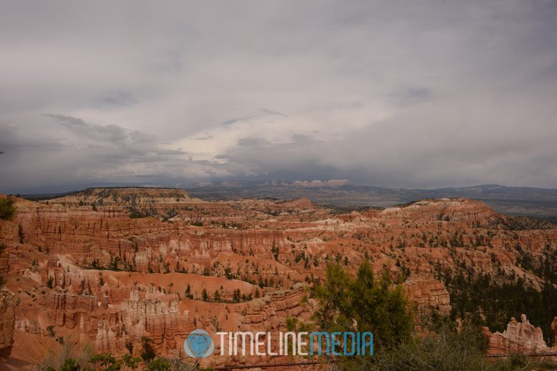 Storm clouds approaching Inspiration Point in Bryce Canyon ©TimeLine Media