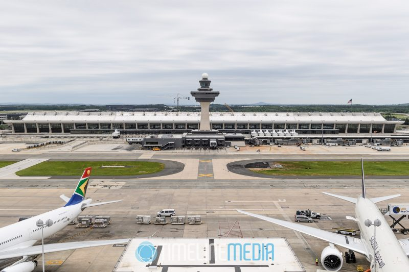 Main Terminal at Dulles Airport from a traffic control tower ©TimeLine Media