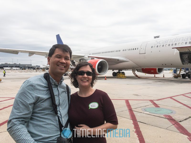 Me and my wife on the tarmac at Dulles - photo by Jae Robinson