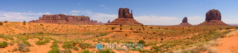 Panorama stitch of multiple photos at Monument Valley ©TimeLine Media