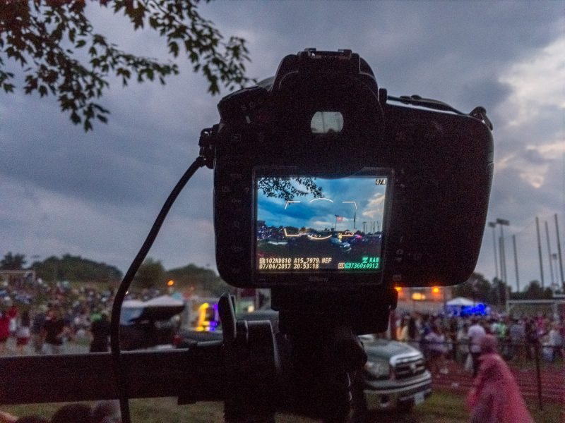 DSLR set up for a fireworks show ©TimeLine Media