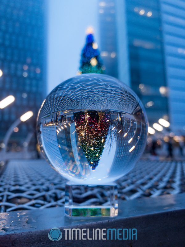 Lensball with Christmas Tree and Tysons in the background ©TimeLine Media