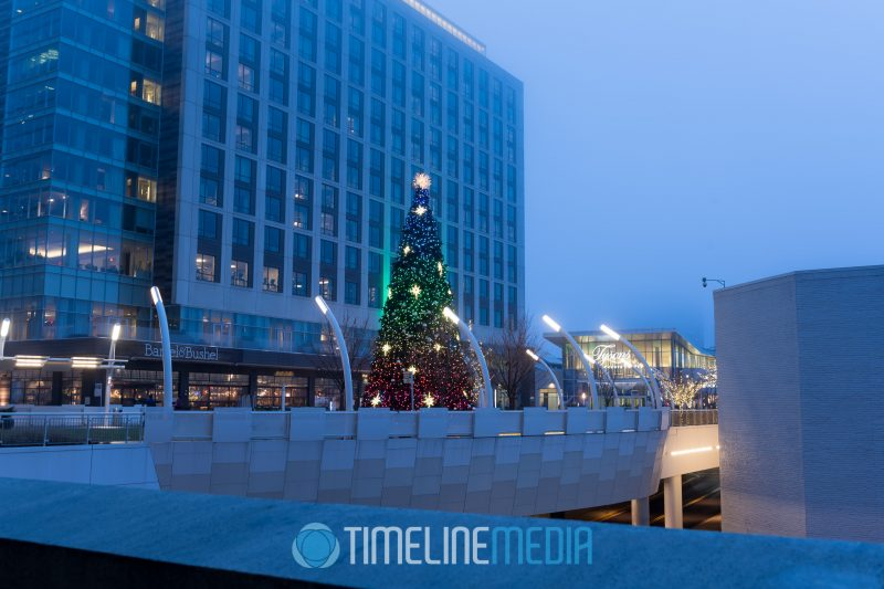 2018 Holiday - The Plaza at Tysons Corner Center from the metro train walkway ©TimeLine Media