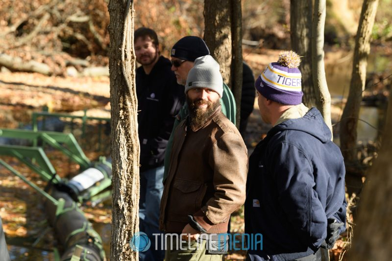 Trey from Anasoctia Riverkeeper speaking about cleanup efforts ©TimeLine Media
