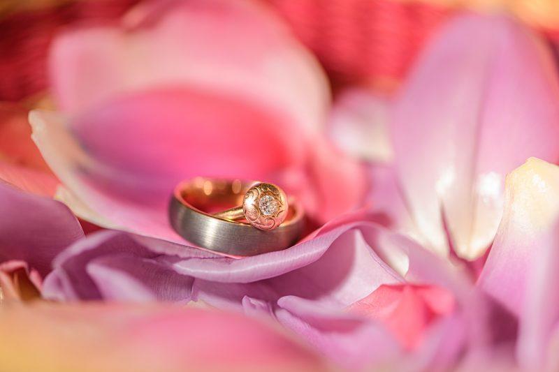 wedding rings for a summer wedding in Paris, Virginia ©TimeLine Media