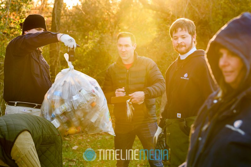 Sorting the garbage removed from the Anacostia river tributary ©TimeLine Media