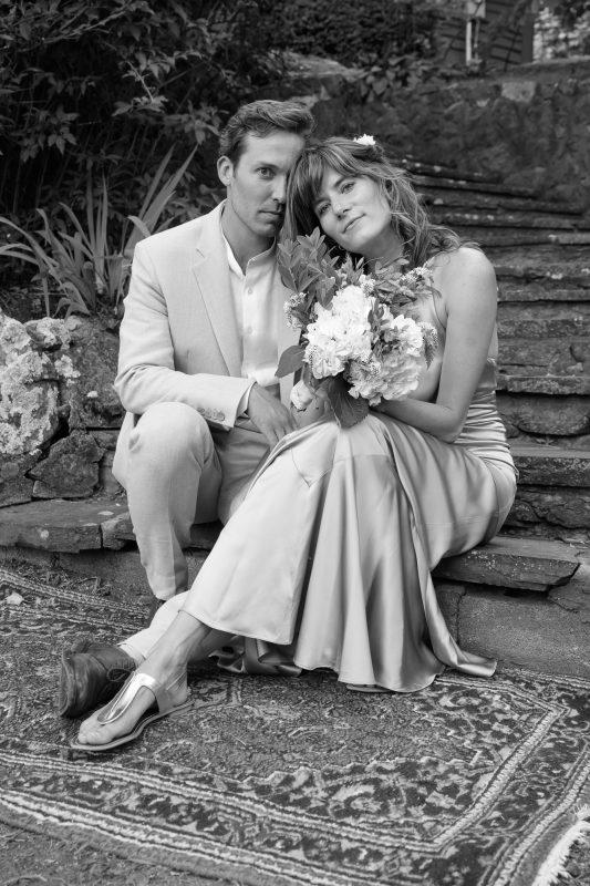 Portrait of Ashwood and Julie after their summer wedding in Paris, Virginia ©TimeLine Media