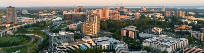 Panoramic view from above Tysons, Virginia from the top of the Capital One Tower by Rassi G. Borneo ©TimeLine Media