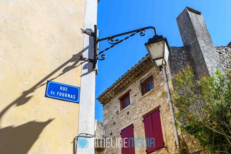 Street sign in the old town section of Vivivers, France ©TimeLine Media