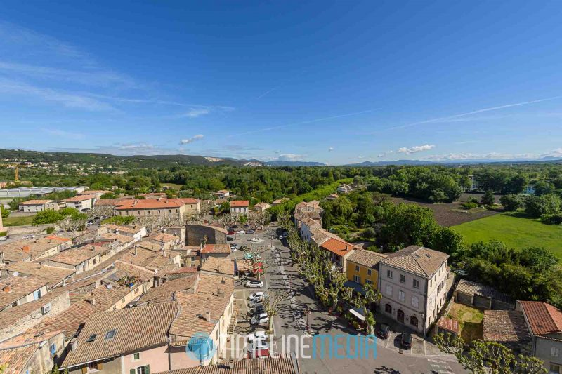 Panoramic view over the old city of Viviers, France ©TimeLine Media