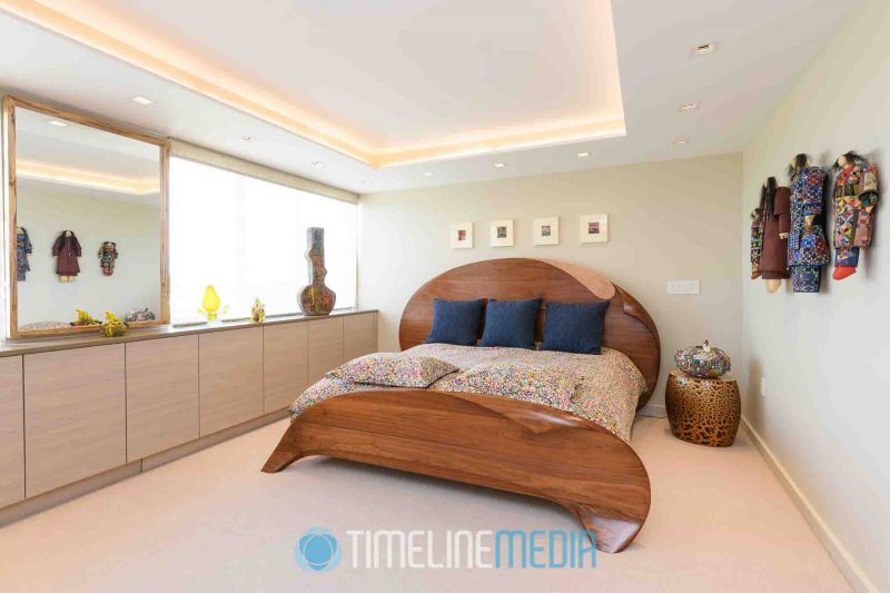 Bedroom in a complete penthouse project in Maryland ©TimeLine Media