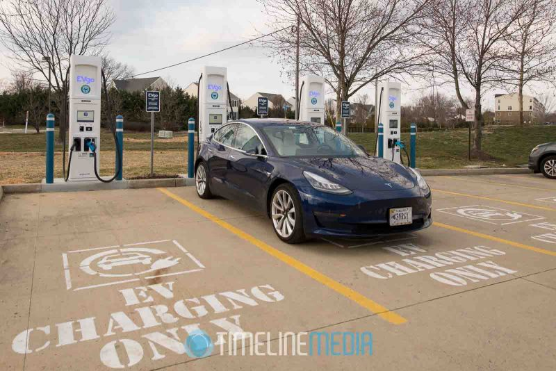 EVgo charging station in Chantilly, Virginia ©TimeLIne Media